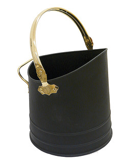 Coal Bucket Flanders Black and Brass
