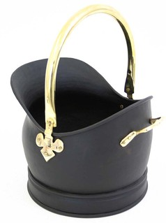 Coal Bucket Salisbury Black and Brass - Small