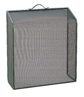 Fire Screen Slope Black