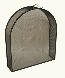 Fire Guard Inset Arch Black