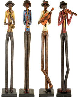 Set of 4 Standing Jazz Musicians - Last one Free