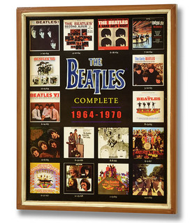 Beatles Anthology Plaque - Wooden