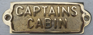 BRASS NOTICE - CAPTAINS CABIN